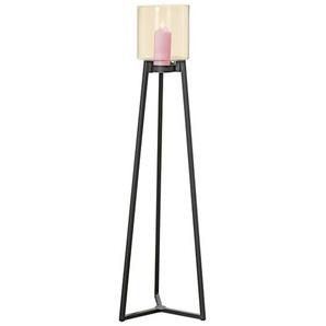 BOLTZE Windlicht auf Sockel H 143 DENIA Metall/Glas