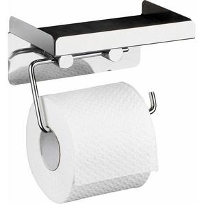 WENKO Toilettenpapierhalter »2 in 1«, Befestigen ohne Bohren