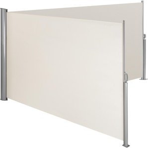Alu Doppel Seitenmarkise 200 x 600 cm beige