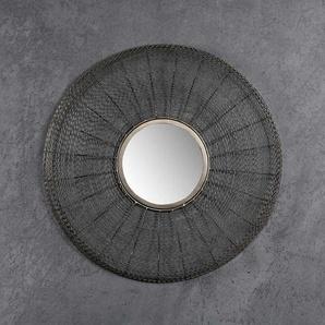 Runder Spiegel mit Metallrahmen modern