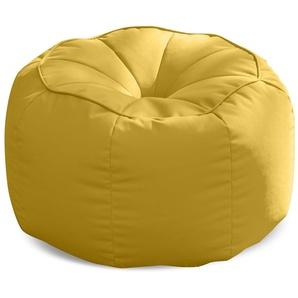 SittingBull® Tube Sitzsack-Hocker Soft Yellow