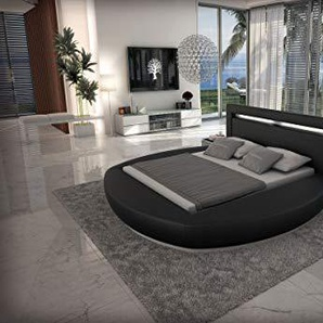 Sofa Dreams Designer Rundbett Riva Bettgestellmit LED Beleuchtung 160x200, 180x200, 200x200, 200x220