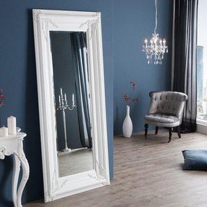 Barock Wandspiegel RENAISSANCE 180x85cm weiß Antik Look Standspiegel