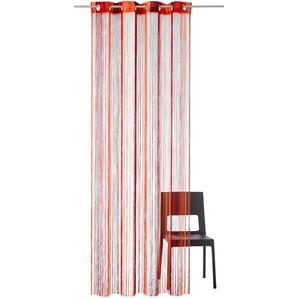 My Home Fadenvorhang »Fao«, H/B 245/290 cm, rot, transparenter Stoff