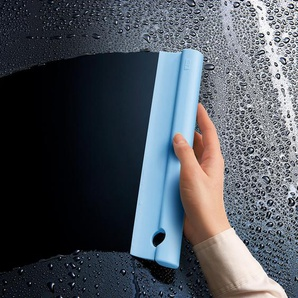 Tidy Squeegee, Silikon-Duschabzieher inklusive Aufhängung, 26 x 6 x 2,1 cm, blau