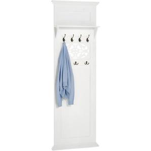 Garderobenpaneel, weiß, Gr. 180/60/14.5 cm,  home