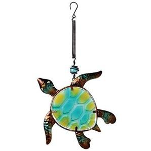 Sunset Vista Designs Dekoelement Meeresschildkröte aus Metall und Glas