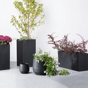 Blumenkübel schwarz rund 21 x 21 x 22 cm LOMOND