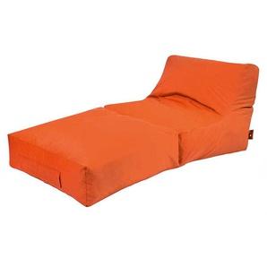 Sitzsack Lounge Liege in Orange Wetterfest