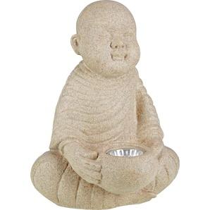 LED-Solarleuchte Buddha Polyresin 22 x 28 x 21 cm