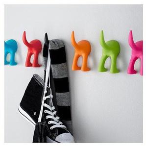 BASTIS Ikea schwarz Hund Schwanz Haken Weiches Gummi–von Schwanz hängen grün