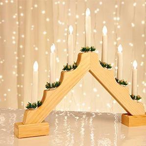 Lichterbogen mit 7 LED-Kerzen