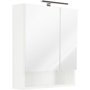 Posseik Spiegelschrank 60 cm Multi-Use Weiß EEK: E