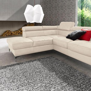 Places Of Style Ecksofa mit Bettfunktion, beige