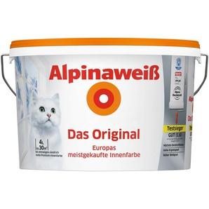 ALPINA Wand- und Deckenfarbe »Alpinaweiß - Das Original«, 4 l
