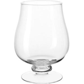 LEONARDO Windlicht auf Fuß H 30 cm GIARDINO Glas