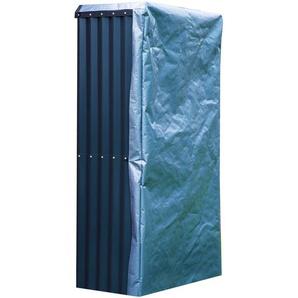 OUTFLEXX Set Kaminholzregal mit Wetterschutz und Wandhalterung, anthrazit, Zincalume, 105x180cm