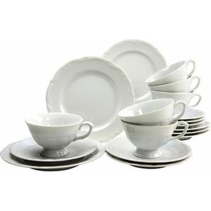 CreaTable Kaffeeservice Porzellan 18 Teile »Maria Theresia«, weiß, Gr. onesize, CREATABLE, Material: Porzellan