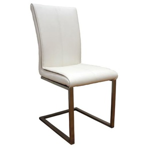 MONDO Stuhl MOKA Lederlook Cremeweiß