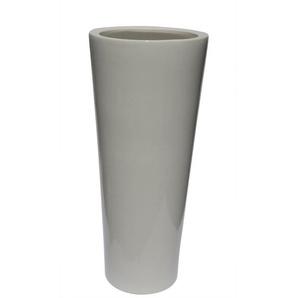 Konische Bodenvase /Vase aus Keramik H 55 /Ø 24 Weiß glänzend