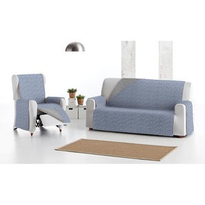 Sofa-Decke: 3 / 1x 3-Sitzer-Decke + 1x 2-Sitzer-Decke + 1x 1-Sitzer-Decke / Blau
