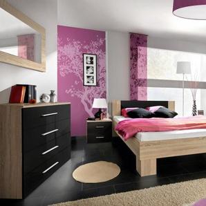 JUSTyou VICKA II 180 Schlafzimmerset Schlafzimmerkombination Schlafzimmer Komplett Eiche Schwarz