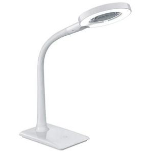 TRIO praktische LED Schreibtischlampe /Lupenlampe LUPO Weiß