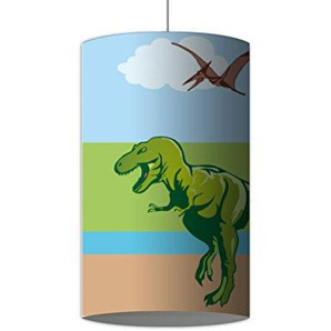 Klebefieber Hängelampe Dinosaurier B x H: 100cm x 50cm Aufhängungs-Farbe: Weiß