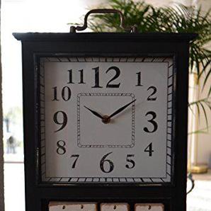 Maison en France Standuhr-Tischuhr - große schicke Standuhr Paris- Kaminuhr - im Landhaus-Shabby-Stil