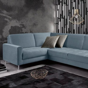 Inosign Ecksofa »Style«, blau, B/H/T: 265x43x58cm, hoher Sitzkomfort, FSC®-zertifiziert