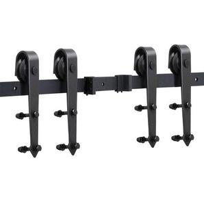 Schiebetürbeschlag Set Schiebetürsystem Laufschiene mit Abstandshalter Montage-Set 488 cm (16ft) - YAHEETECH