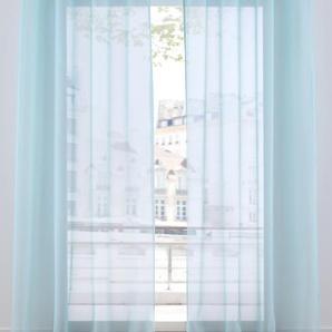 Transparente Gardine einfarbig (1er Pack) blau