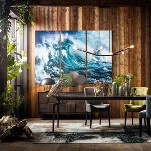 KARE Glasbild 240 x 160 cm ,blau ,Glas