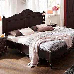 Premium collection by Home affaire Bett »Katarina«, in verschiedenen Bettbreiten erhältlich, mit schönen Kantenverzierungen, braun, 190 cm x 210 cm