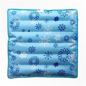 DYEWD Kissen Eis-Kissen, Wasser-Kissen, Sommer-kühles Kissen, Autositz, Kissen, Büro-Kissen, Blau 45 * 45cm
