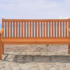 Gartenbank Holz hellbraun 180 cm RIVIERA