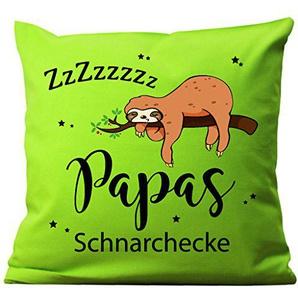 Wandtattoo-Loft Kissen Bedruckt Papas Schnarchecke Faultiers Baumwolle 40 x 40 cm / 10 Stoff limetten grün