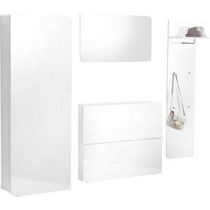Garderoben-Set , weiß, »Goccia«, Hochglanz-Fronten, FSC®-zertifiziert, Places of Style
