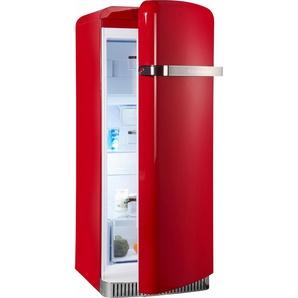 Kühlschrank KCFME 60150R, 155,5 cm hoch, 60,8 cm breit, A++, 155,5 cm hoch, Retro, Energieeffizienz: A++, rot, Energieeffizienzklasse: A++, KitchenAid