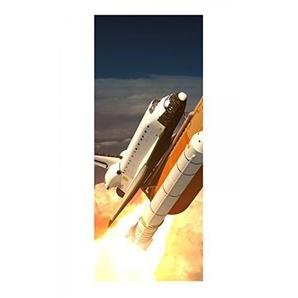 Türaufkleber Weltraum Rakete Space Shuttle Himmel Tür Bild Türposter Türfolie Türtapete Poster Aufkleber 15A1027, Türgrösse:67cmx200cm