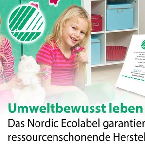 Vorhang-Kleiderschrank Kids Heaven, weiß mit Holzstruktur