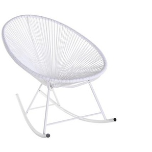 Schaukelstuhl BELLAVISTA aus weißem Kunststoffgeflecht