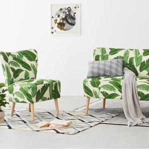 Charley 2-Sitzer Sofa, Blattgruen