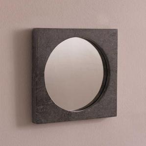 Design Spiegel in Grau Steinrahmen
