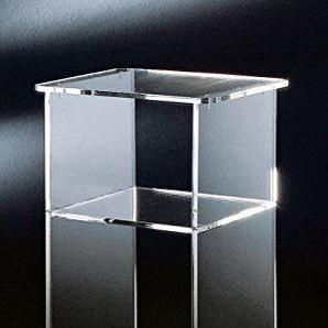 HOWE-Deko Hochwertiger Acryl-Glas Telefontisch, klar, 33 x 31 cm, H 73 cm, Acryl-Glas-Stärke 10 mm