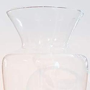 Oberstdorfer Glashütte Vase hohe Glasvase übergroße Bodenvase Klarglas XXL Riesen Blumenvase, Windlicht Kristallglas Grosse Öffnung 27 cm, Höhe 50 cm, mundgeblasen