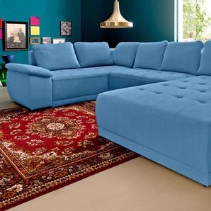 sit&more Wohnlandschaft, blau, 351cm, Recamiere rechts, FSC®-zertifiziert