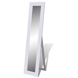 vidaXL Boden Stehend Spiegel Standspiegel Ganzkörperansicht Weiß 240581