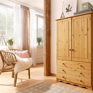 Home affaire Wäscheschrank »Minik« in 3 Farben, Höhe 140 cm, Tiefe 35 cm, natur geölt