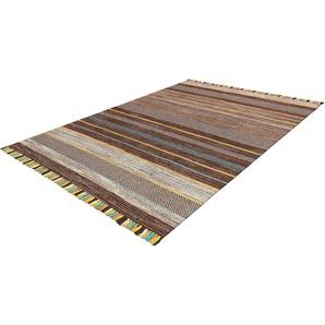 Calo-deluxe Teppich  »Mabelene 2904«, 70x130 cm, 8 mm Gesamthöhe, braun